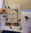 First circuit of the day. Making a simple circuit