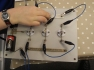 A series circuit- ready for pupils to make observations on. Pupils like have their own boards.