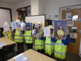 Pupils giving a presentation to their peers about the importance of Engineering jobs within ENWL